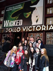 Performing Arts students were inspired by a visit to watch a number of shows in London