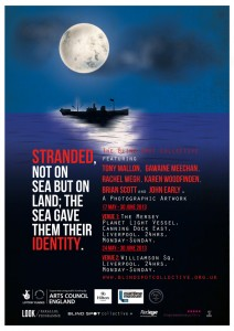 The poster designed by Andrew that helped promote the 'Stranded' art project