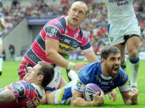 Tyrone McCarthy scoring in last year's Challenge Cup Final