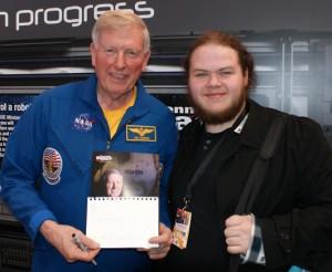 Jack Neil meeting astronaut Jon McBride