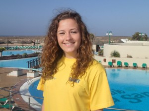 Courtney Dean photographed on a recent trip with Priestley College to La Santa