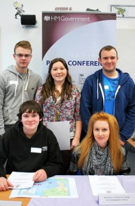 Some of the most successful students who took part in the mock news event
