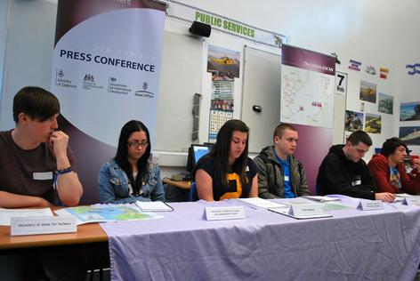 Students lead response on MOD fictional overseas civil war