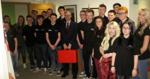 Public Services students with Doctor Andrew Murrison