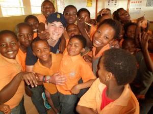 Rob Jones meeting african kids web