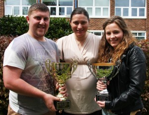Priestley's sports personalities of the year - Matt and Courtney - were presented with their awards by Paralympian Dame Sarah Storey