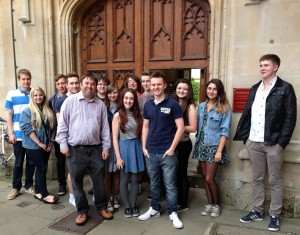 Priestley students visiting Oxford.