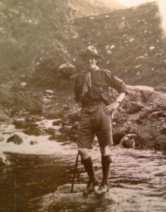 Holly's service in the community follows a family tradition dating back to her great, great grandad Evelyn Roach who was one of the early scout leaders.