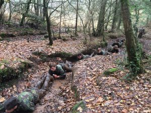 One of the many challenges faced by the Priestley students during the commando training
