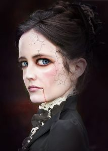 One of the visuals produced by Glen for a climatic scene involving Eva green at the end of series 2 of Penny Dreadful