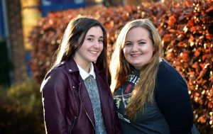 Marion Colas and Ashley Hayward enjoyed the exchange between Alain Colas school and Priestley College.